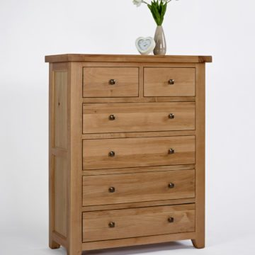 Devon Oak 2 Over 4 Chest of Drawers