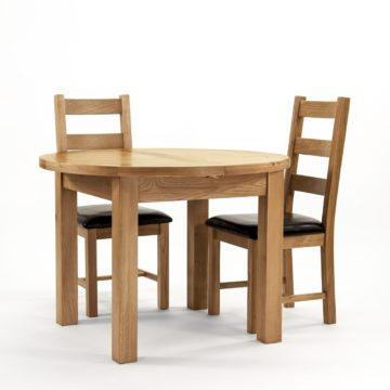 Devon Oak Round Extending Dining Table