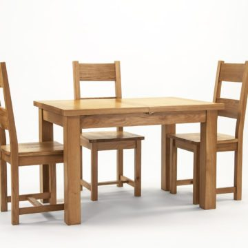 Devon Oak Extending Dining Table 120 to 153 cm
