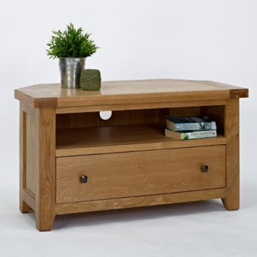 Devon Oak Corner TV Unit