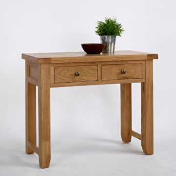 Devon Oak 2 Drawer Console Table