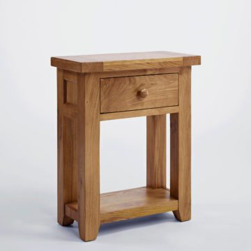 Devon Oak Small 1 Drawer Console Table