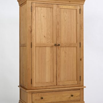 Normandy Oak 2 Door Wardrobe With Drawer