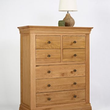 Normandy Oak 4 Over 3 Drawer Wide Chest