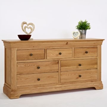 Normandy Oak 3 Over 4 Drawer Chest