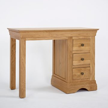 Normandy Oak Single Pedestal Dressing Table