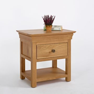 Normandy Oak Bedside Table