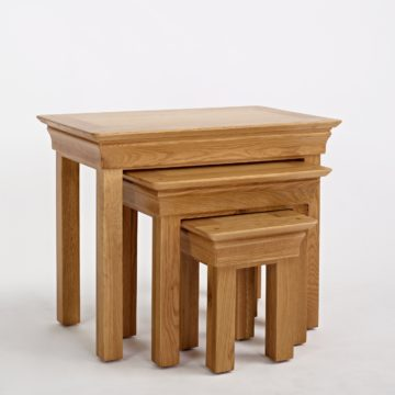 Normandy Oak Nest of Tables