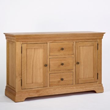 Normandy Oak 4ft 6 Dresser Base