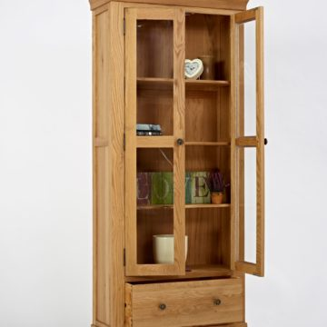Normandy Oak Display Cabinet