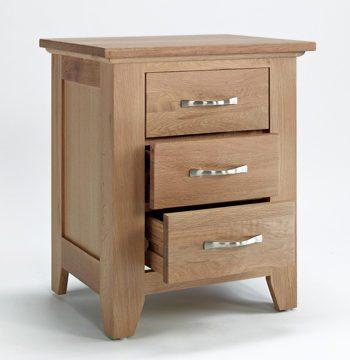 Sherwood Oak Bedside 3 Drawer