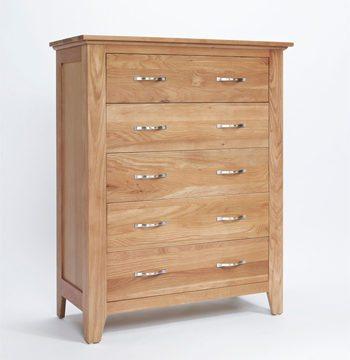 Sherwood Oak Chest 5 Drawer