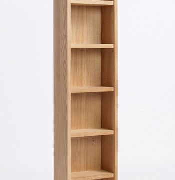 Sherwood Oak DVD CD Cabinet 5 Shelves