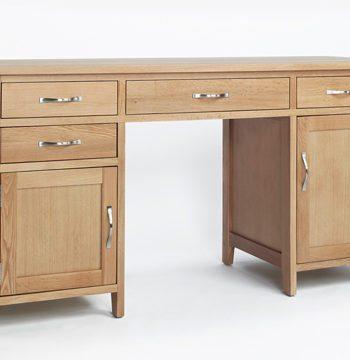 Sherwood Oak Double Pedestal Desk
