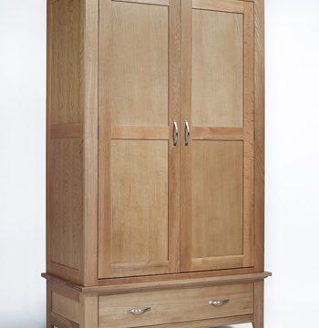 Sherwood Oak Double Wardrobe 1 Drawer