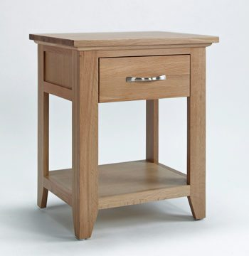 Sherwood Oak Lamp Table With Drawer