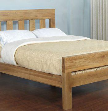 Santana Blonde Oak Double Bed Frame