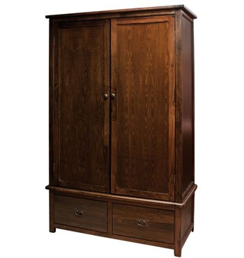 Boston Darkwood 2 Door 2 Drawer Wardrobe