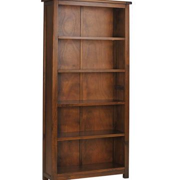 Boston Darkwood Tall Bookcase