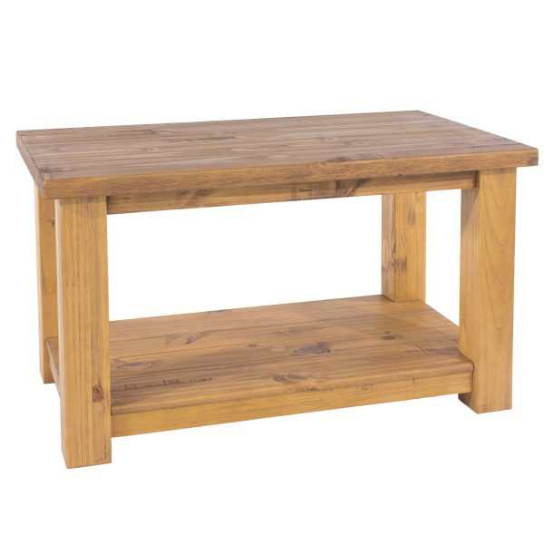 Farmhouse Coffee Table With Shelf