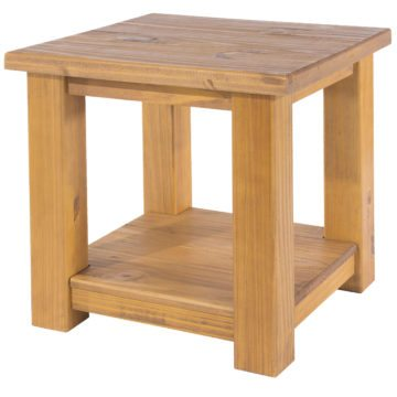 Farmhouse Lamp Table with Shelf