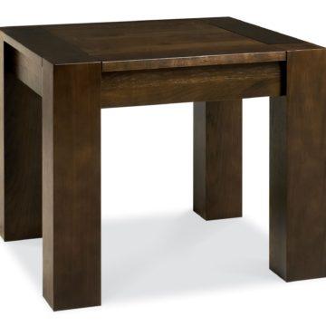 Lyon Walnut Square Lamp Table