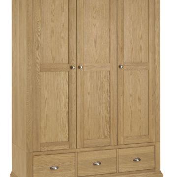 Hampstead Oak Triple Wardrobe