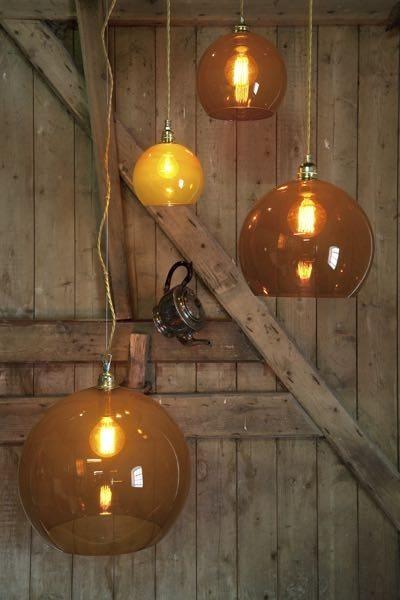 Rowan Pendant Lamp 39cm Colour Variations