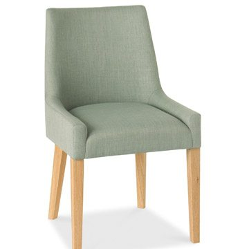 Ella Oak Scoop Back Chair A Pair