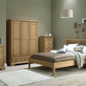 Hampstead Oak 5 Drawer Tall Chest