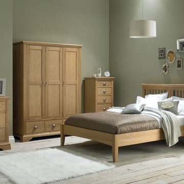 Hampstead Oak Double Bedstead