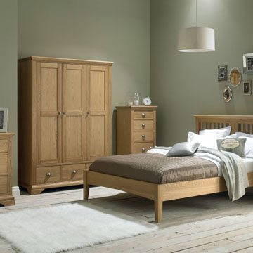 Hampstead Oak Double Wardrobe