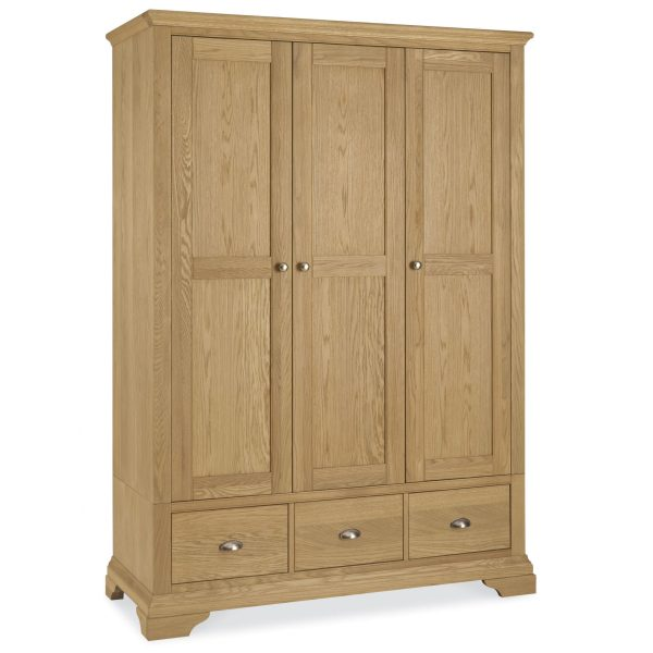 Hampstead Oak Triple Wardrobe