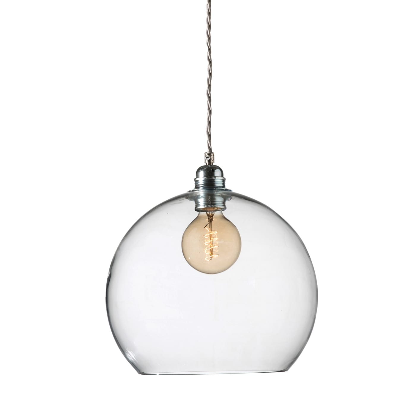 Rowan Pendant Lamp 28cm Clear