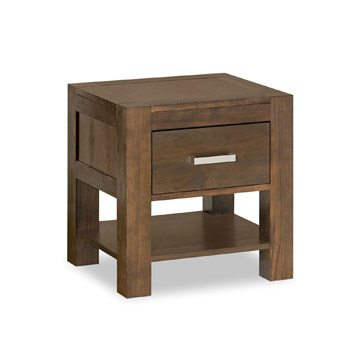 Lyon Walnut 1 Drawer Nightstand