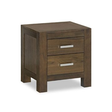 Lyon Walnut 2 Drawer Nightstand