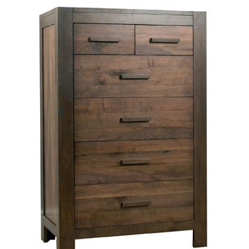 Lyon Walnut 2 Over 4 Drawer Chest