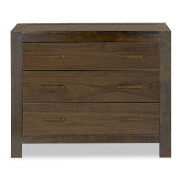 Lyon Walnut 3 Drawer Wide Chest