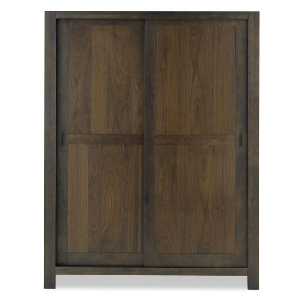 Lyon Walnut Sliding Door Large Double Wardrobe