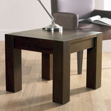 Lyon Walnut Square Lamp Table