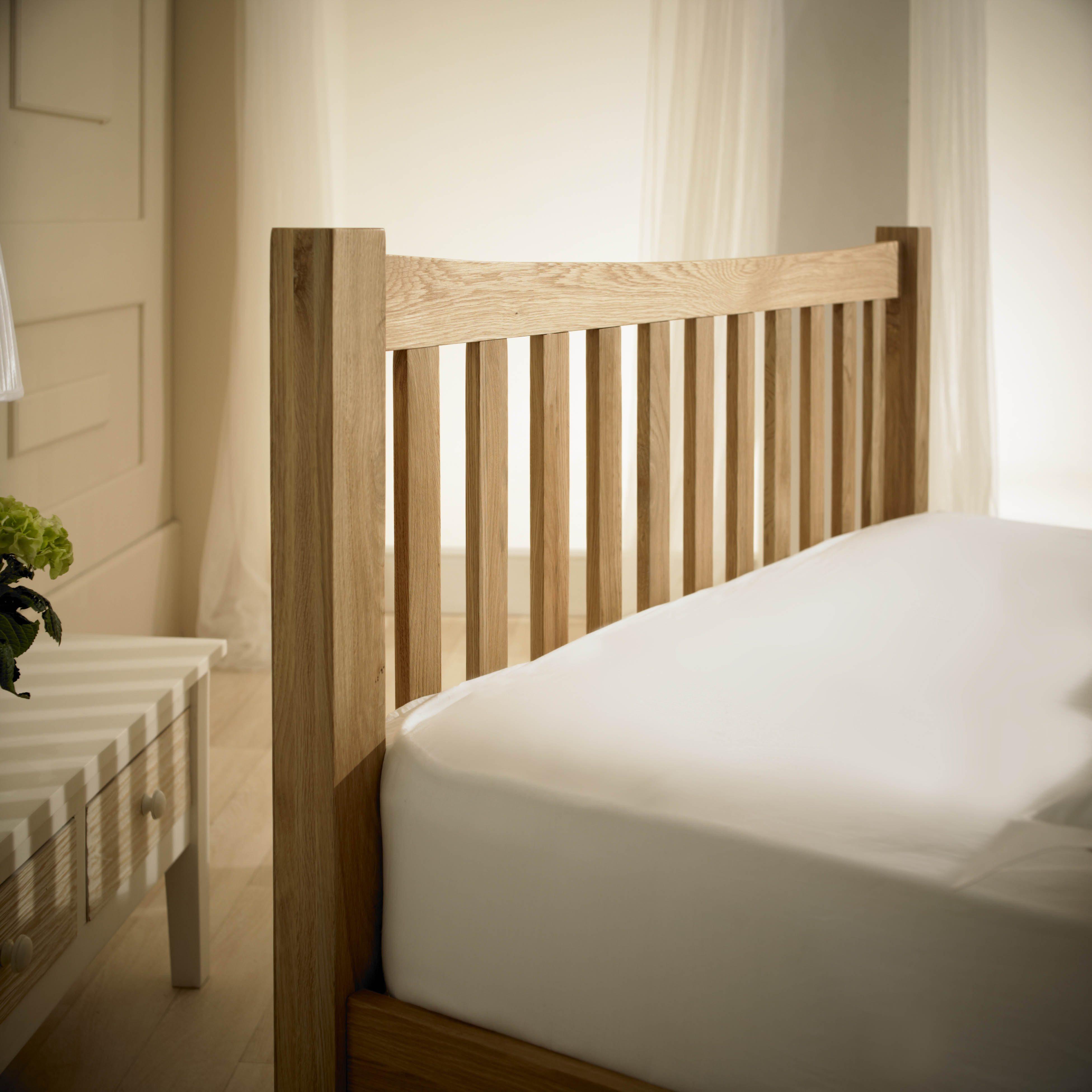 Milan Solid Oak Bed