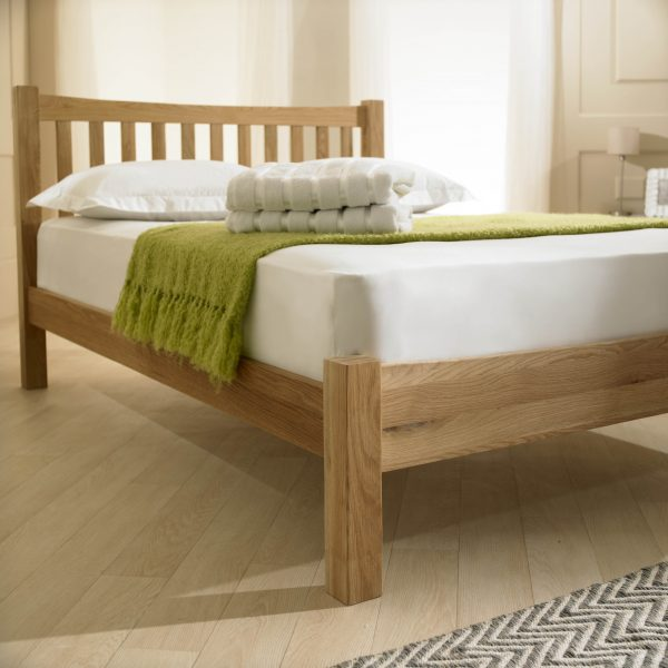 Milan Solid Oak Bed