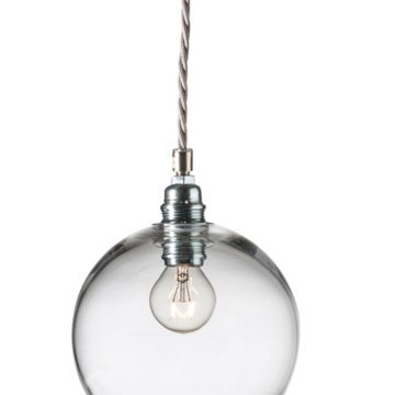 Rowan Pendant Lamp 15cm Colour Variations Smokey Grey