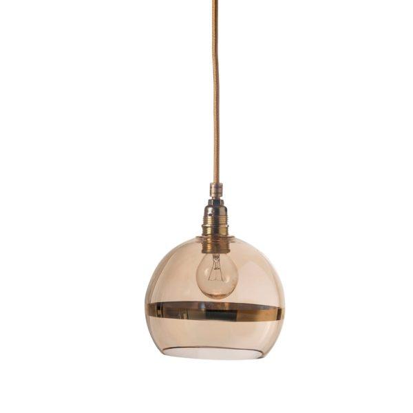 Rowan Pendant Lamp 15cm Stripe Gold Stripe on Gold