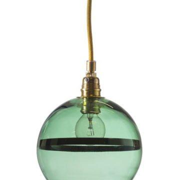 Rowan Pendant Lamp 15cm Stripe Green Stripe on Green 1