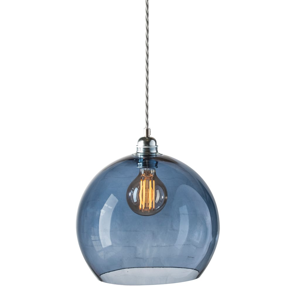 Rowan Pendant Lamp 22cm Colour Variations Deep Blue