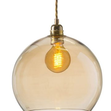 Rowan Pendant Lamp 28cm Colour Variations Golden Smoke