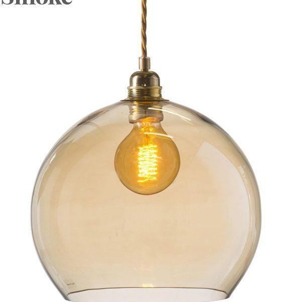Rowan Pendant Lamp 28cm Colour Variations Golden Smoke
