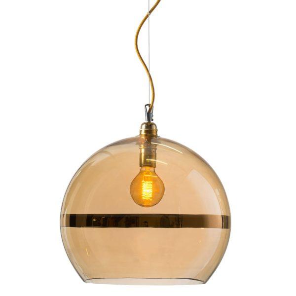 Rowan Pendant Lamp 39cm Stripe Gold Stripe on Gold