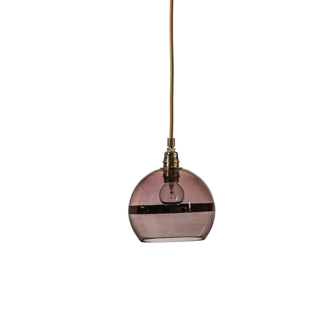 Rowan Pendant Lamp Copper Stripe on Obsidian, 15cm